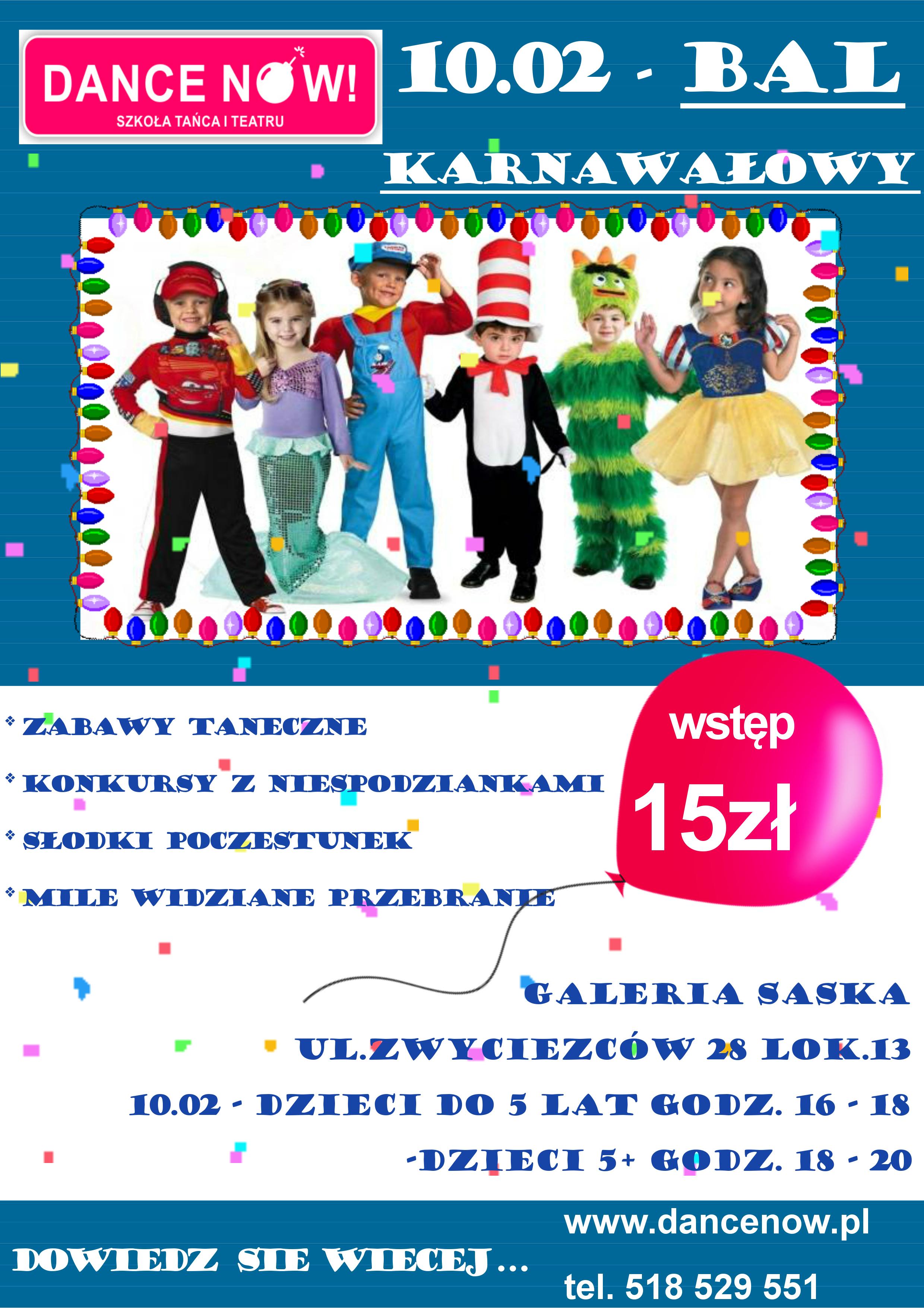 Bal Karnawałowy 10 lutego